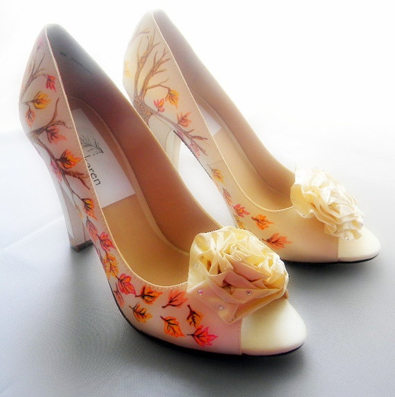 Items similar to Wedding Shoes fall trees as seen on David ...