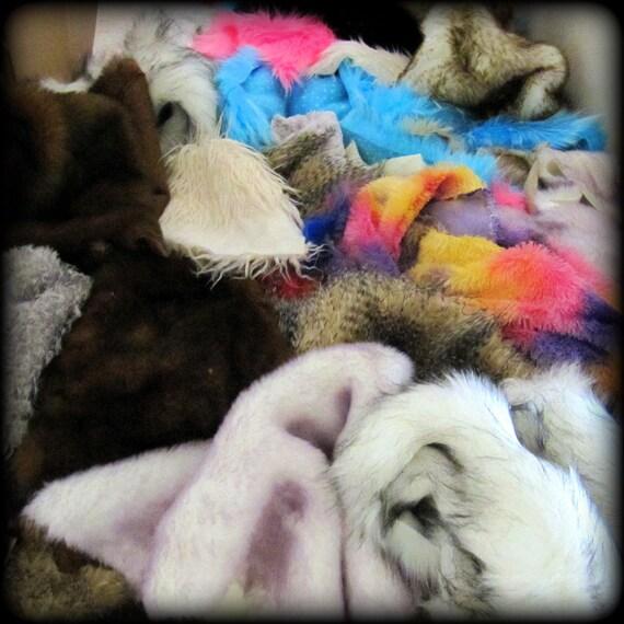 SCRAP PACK - random assortment of faux fur off-cuts