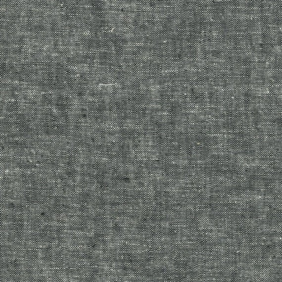 Essex Yarn Dyed quilt fabric by Robert Kaufman for Fabric Shoppe- Premium quilting linen- Essex Yarn Dyed in Black- 1 yard