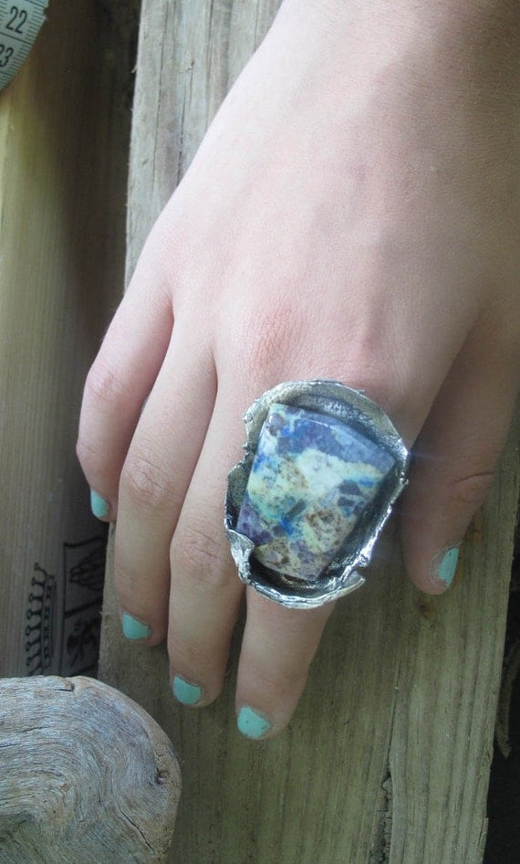 Reserved downpayment  2 eco silver rings color me beautiful kaleidoscope agate and breathe blue green pilot mountain mine turquoise