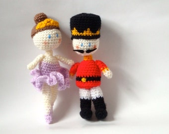 Crochet Doll Amigurumi Patterns - Nutcracker & Fairy