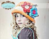 Mommy Luv Custom Order - Textured Flower Cloche Custom Colors