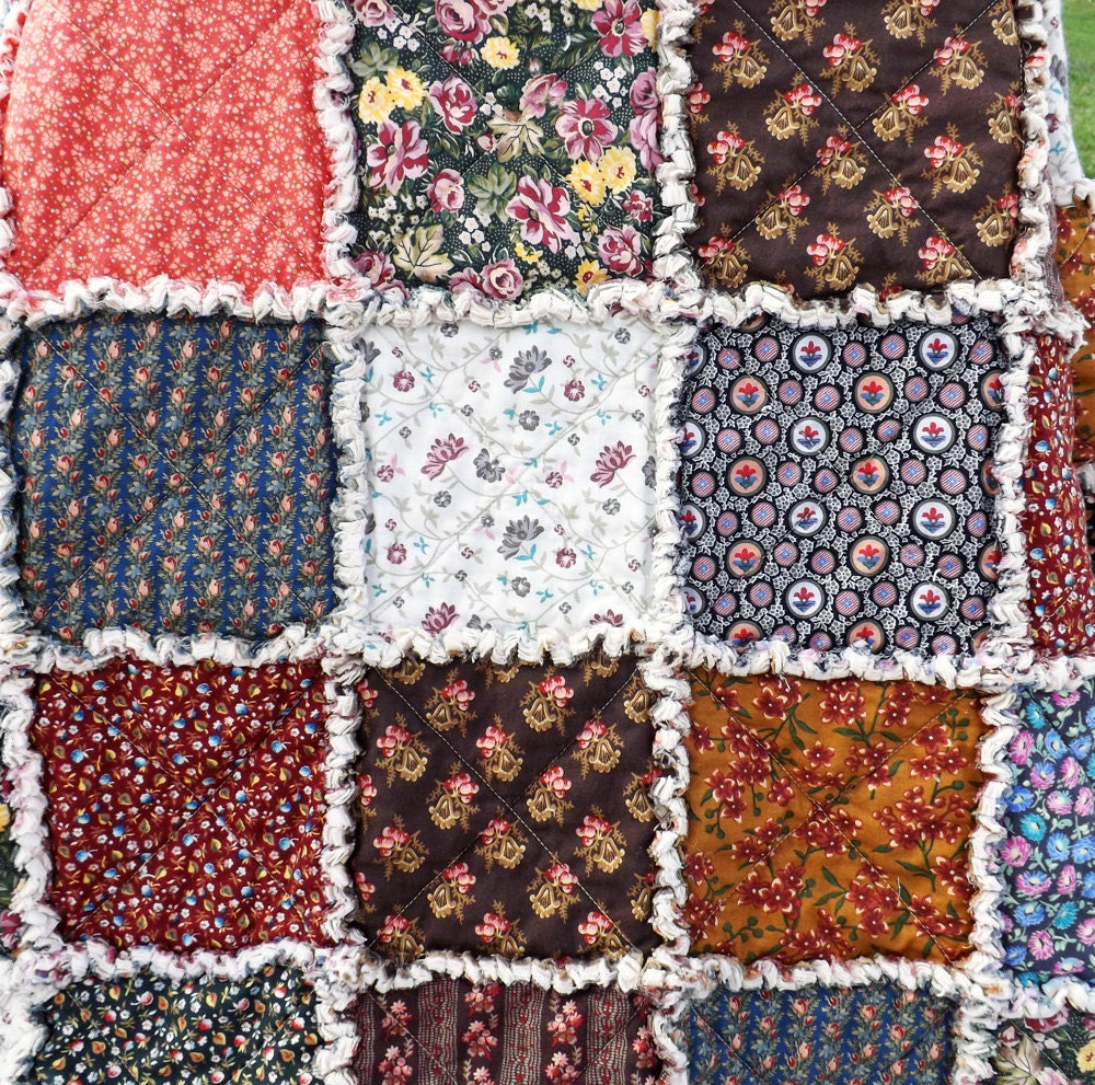 Reproduction Fabrics Rag Quilt Vintage Look By