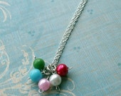 Multicolored Beaded Bauble Necklace