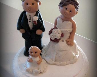 Custom Wedding Cake Topper Family Style