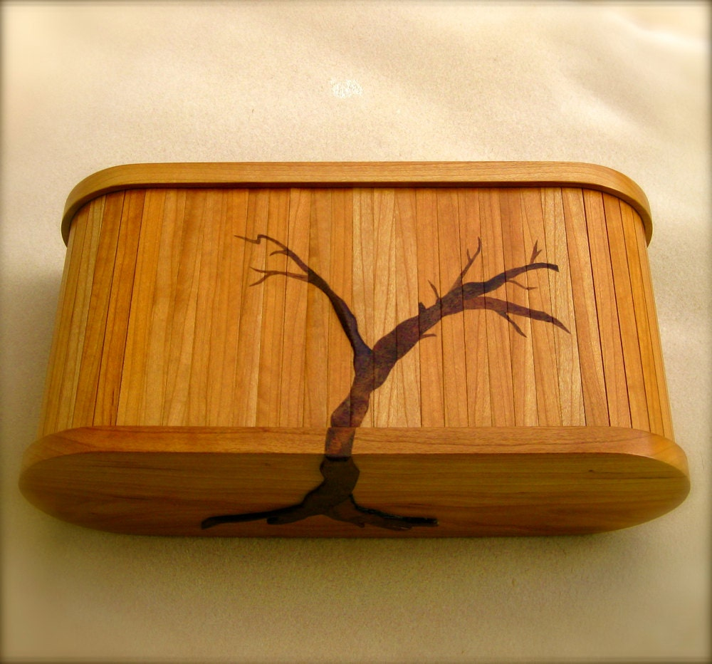 Handcrafted wood jewelry boxes -  Wood Jewelry Box Zoom