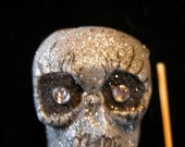 Handcrafted Day of the Dead Plaster Skull Pin