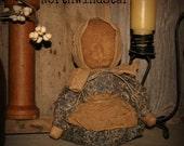 Primitive Prairie Stump Doll Shelf Sitter Ornie Tuck
