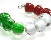LeahBeads-Christmas Candy-Lampwork Beads