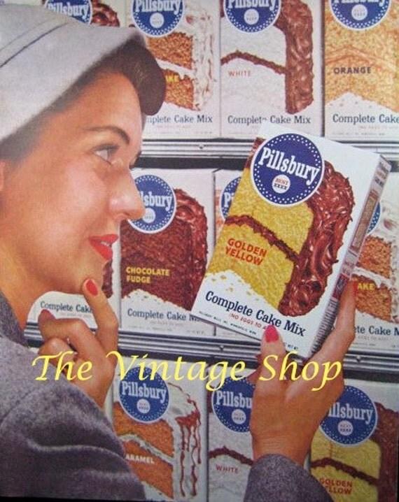 Pillsbury Cake Mix and Colgate Toothpaste..1950s Vintage Advertising E128