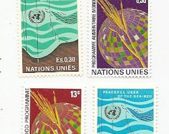 35 Vintage Unused UNITED NATIONS STAMPS