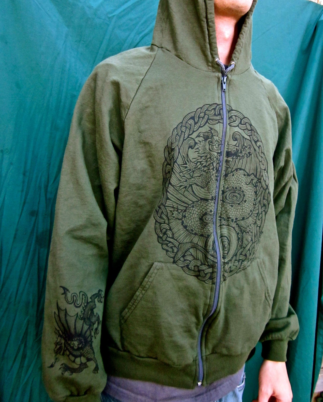 Dark green zip up hoodie
