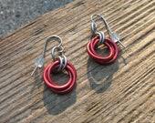 Red Celtic Rose Earrings (PRICE REDUCED)