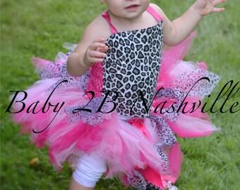 Baby Cheetah Tutu Costume Set