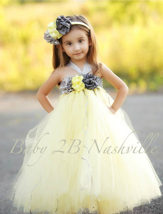 Yellow Springtime Flower Girl Dresses 28