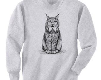 Canadian Lynx Cat Art Men's Sweatshirt Small - 2XL