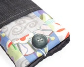 Fortuitous Patchwork iPhone pouch with pocket for key, bank card, cash, etc