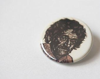Kurt Vonnegut Button, Literary Art Pinback Button