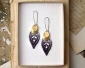 lace earrings - DREA - gray ombre