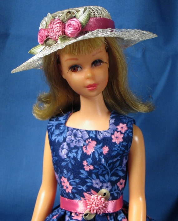 Francie Clothes - Blue and Pink Print Summer Dress and Hat