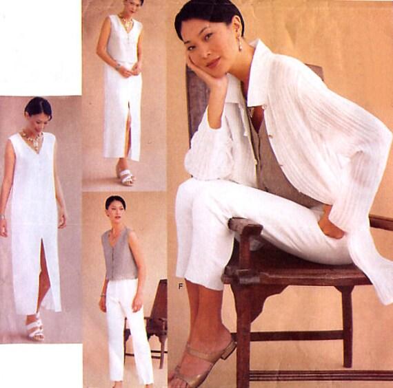 Plus Size Wardrobe Pattern - Vogue 2279 ADRI - Jacket / Dress / Top / Skirt / Pants - Size 20-22-24