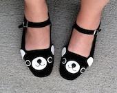 Happy Bear Mary Jane Shoes - (Sizes 4, 5, 6, 7, 8, 9, 10, 11)