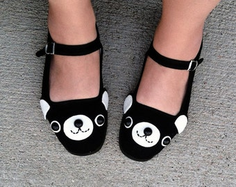 Happy Bear Mary Jane Shoes - (Sizes 4, 5, 6, 7, 8, 9, 10, 11)
