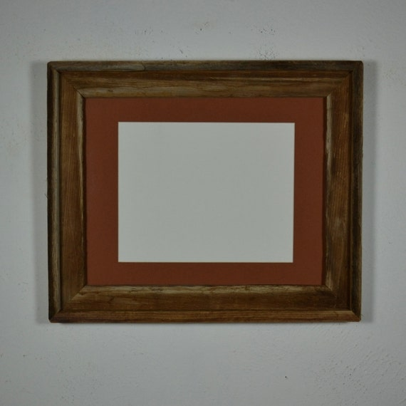 Picture Frame 11x14 With 8x10 Rust Mat Reclaimed Barnwood