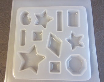 Resin Mold Stars and Jewels Jewelry 11 Count 7 Shapes