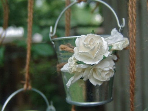 Rustic Wedding Decor Favor Mini Galvanized Pails By Ilovethis