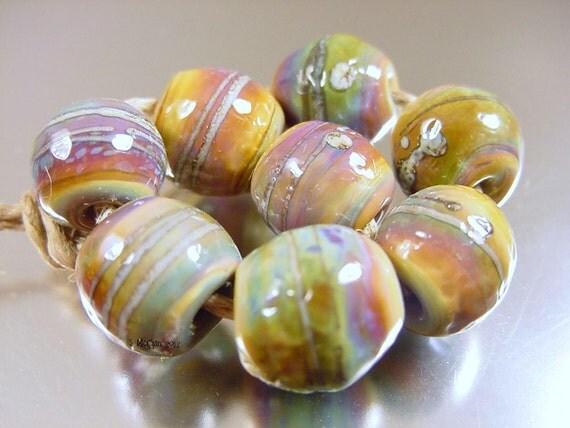 Handmade lampwork glass beads---Purist---SRA