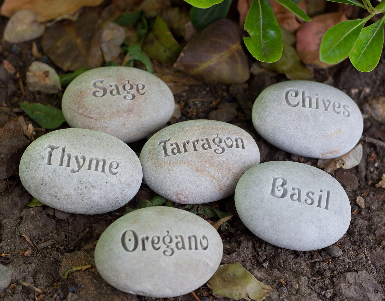 Natural Garden Markers Plant marker herb marker or custom