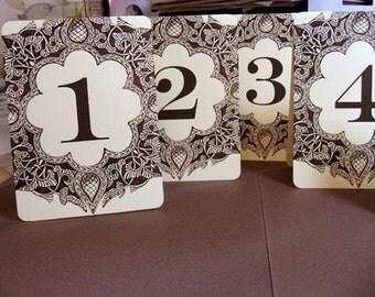 Vintage Table Numbers on cardstock or as Wine Bottle Labels - as seen ... Vintage Table Numbers