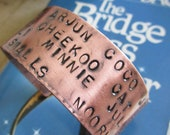 Custom Copper Cuff Bracelet- You Tell me what to put on it-upto 15 words