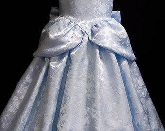 Cinderella GOWN Costume FLORAL Satin Brocade CHILD Size