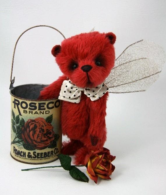 Rose Forgotten Angel OOAK Teddy Bear by Dolls N Dreams