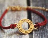 Shema Israel Kabbala bracelet red string Evil Eye bracelet