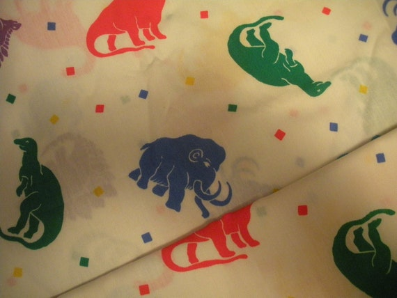 Dinosaur Fabric With Mastadons
