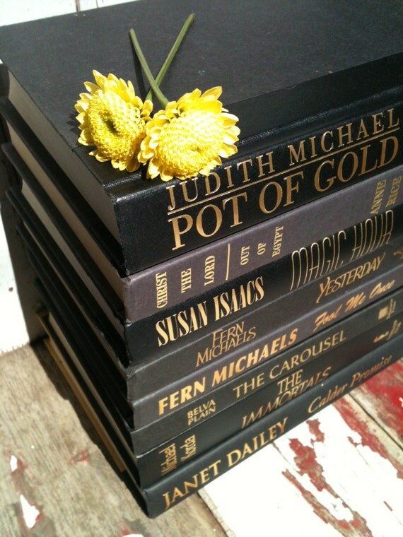 Black Book Bundle,Black Books,Home Staging Books,Photo Prop,Instant Book Collection,Black and Gold,Interior Design