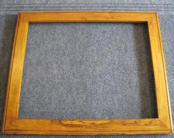 16 X 20 Spalted Maple Honey Amber Dye Picture Frame