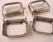 Silver Ox Octagon Prong Settings 25x18 1 Ring open back
