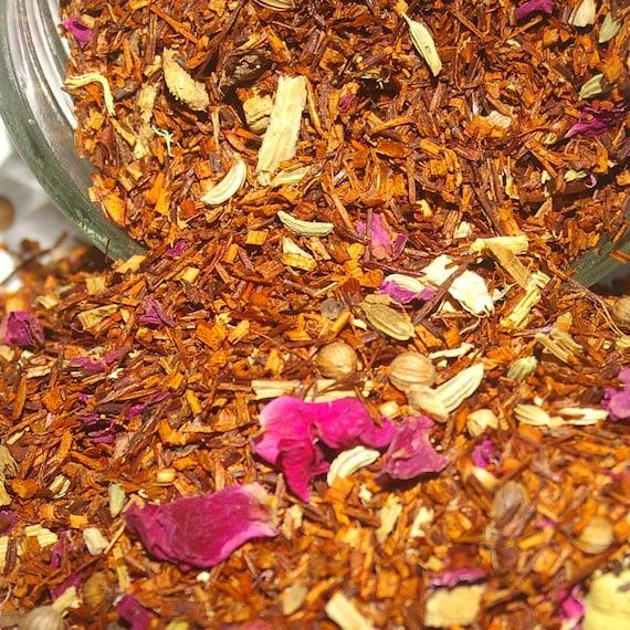 Chai Tea - Ayurvedic Rooibos, Rooibos Tea, Loose Leaf Tea, Herbal Tea, Tea Gift, Cinnamon