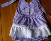 Lovely Lavender Lambs Sun suit