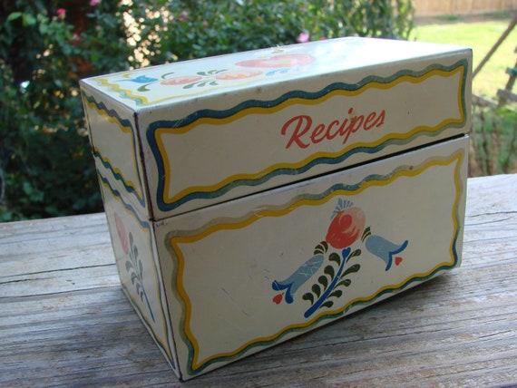 Vintage Metal Recipe Box