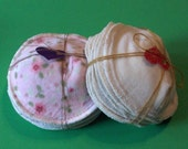 Absorbent and Soft--Cotton Velour & Natural Cotton Flannel Nursing Pads