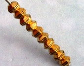Antique Gold 3MM Faceted Heishi Spacer Bead, TierraCast Pewter 50 Pc. TG14