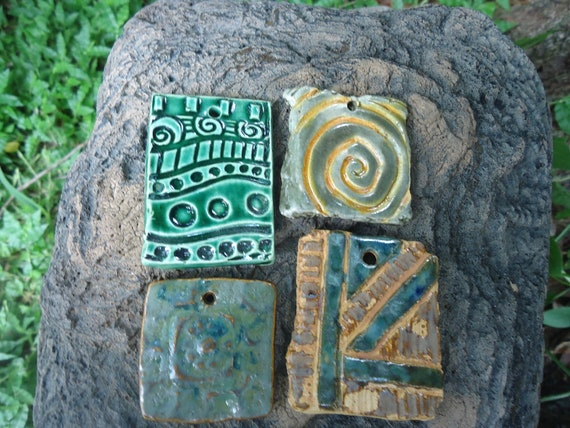 Carved Pendant Set