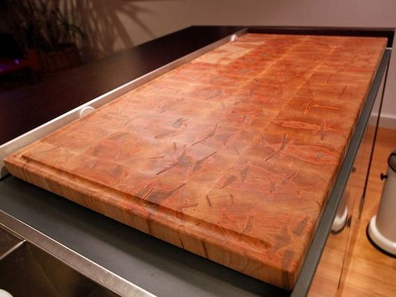 red ambrosia maple butcher block kitchen island by. Black Bedroom Furniture Sets. Home Design Ideas