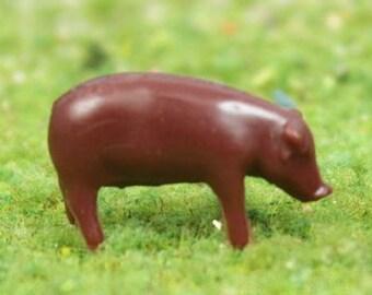 """1/2"""" Brown Pigs - Set of 6 - 102-2037"""