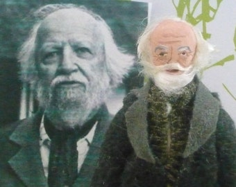 William Golding Doll MIniature Author of Lord of the Flies Art Collectible